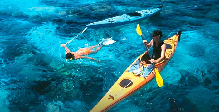 Rutas snorkel y kayak en Almería